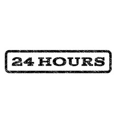 24 hours watermark stamp vector