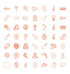 49 key icons vector image