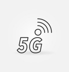 5g outline icon - cellular network vector image