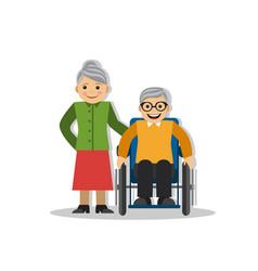 A man on wheelchair and joy vector