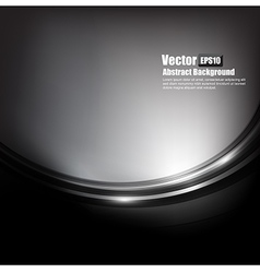 Abstract background black and dark grey curve and vector