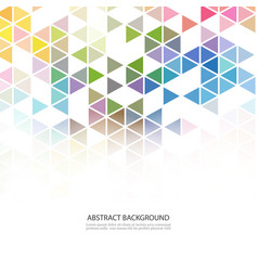 abstract colorful overlapping geometric strip on vector image