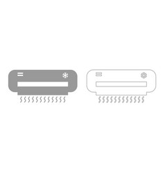 Air conditioner set icon vector