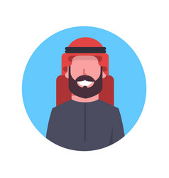 Arabic man profile avatar icon arab businessman vector