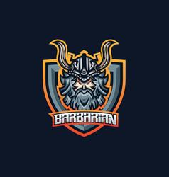 barbarian esport gaming mascot logo template vector image