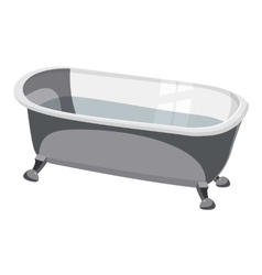Bathtub icon cartoon style vector