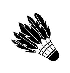 Black shuttlecock for badminton vector
