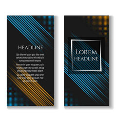 business brochure template with motion lines vector image