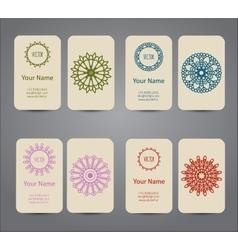 Business card vintage geometric elements vector