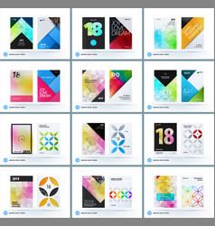 business polygonal set of design brochure vector image