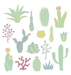 cacti 2 vector image