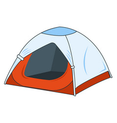 Camping tent icon concept for outdoor and hike vector
