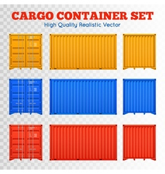 Cargo Container Transparent Set vector