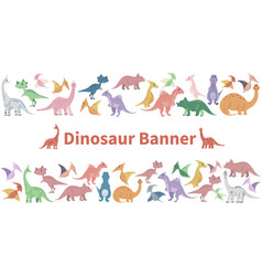 cartoon dinosaurs template vector image