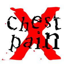 Chest pain sticker vector