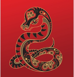 chinese horoscope year snake vector image