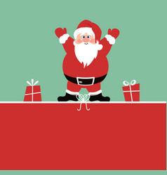 Christmas background with santa claus and gifts vector