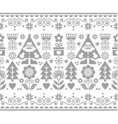 Christmas santa seamless pattern vector