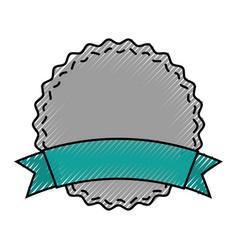 circle seal emblem icon vector image