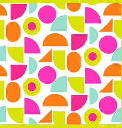 color block bright shapes seamless pattern vector image