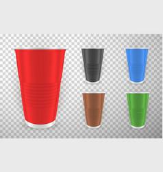 Colored plastic glasses realistic vector