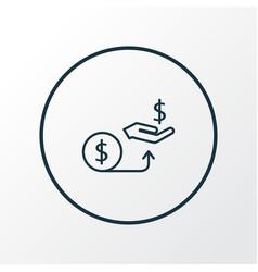Compensation icon line symbol premium quality vector