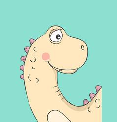 cute little dinosaur funny cartoon vector image