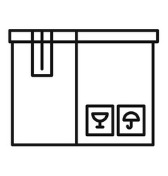delivery box icon outline style vector image