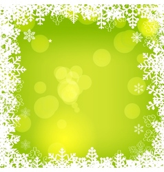 Elegant Christmas Frame Background vector image