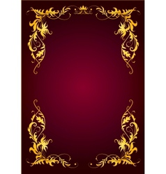 Elegant template for greeting card invitation vector image