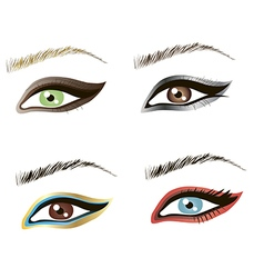 Eyes design art vector image