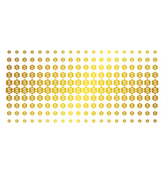 Financial settings gear gold halftone pattern vector
