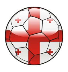 georgia flag on soccer ball vector image