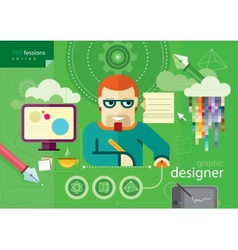 Graphic designer profession series vector