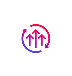 Growth cycle icon vector