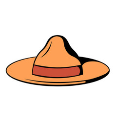 Hat icon cartoon vector
