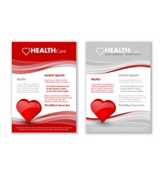 Health care document templates with three vector