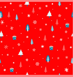 holiday seamless pattern with christmas elements vector image