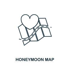 honeymoon map outline icon premium style design vector image
