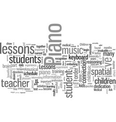 Important tips on piano lessons vector