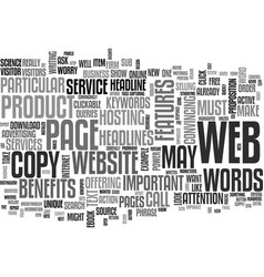 Is your website s copy up to mark text vector