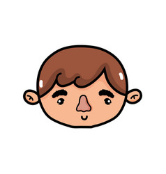 isolated boy design vector image