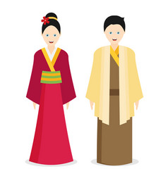 japan traditional costume kimono vector image