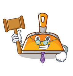 judge dustpan character cartoon style vector image