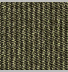 Knit texture melange green color seamless pattern vector