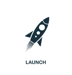 Launch icon symbol creative sign from seo and vector
