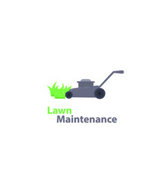 Lawn maintenance logo design vector