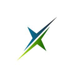 letter x logo slice logo design concept template vector image