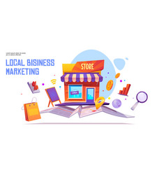 Local business marketing banner template vector