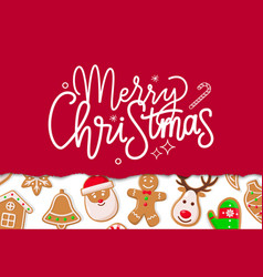 merry christmas celebration of winter holiday vector image